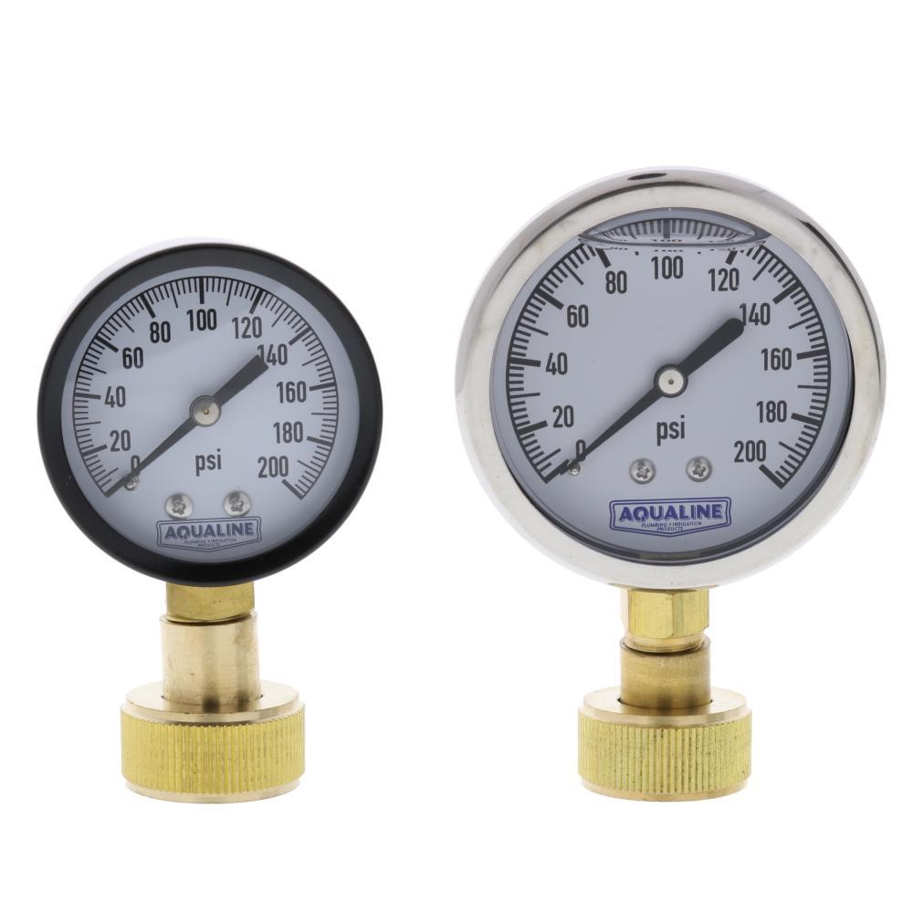 Aqualine 0-200 PSI Pressure Gauge
