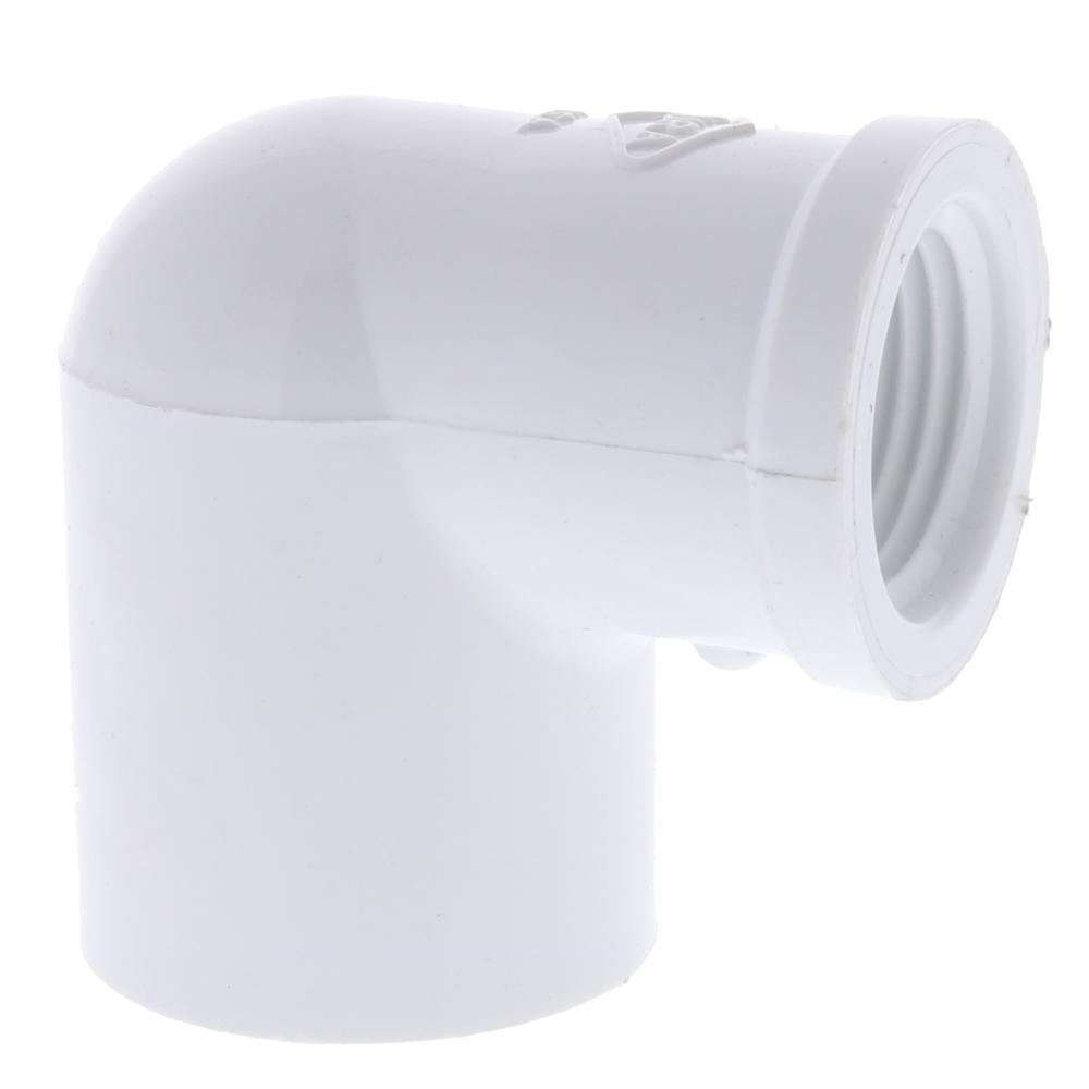 Dura Schedule 40 PVC Reducing Elbow Adapter: Slip x FPT