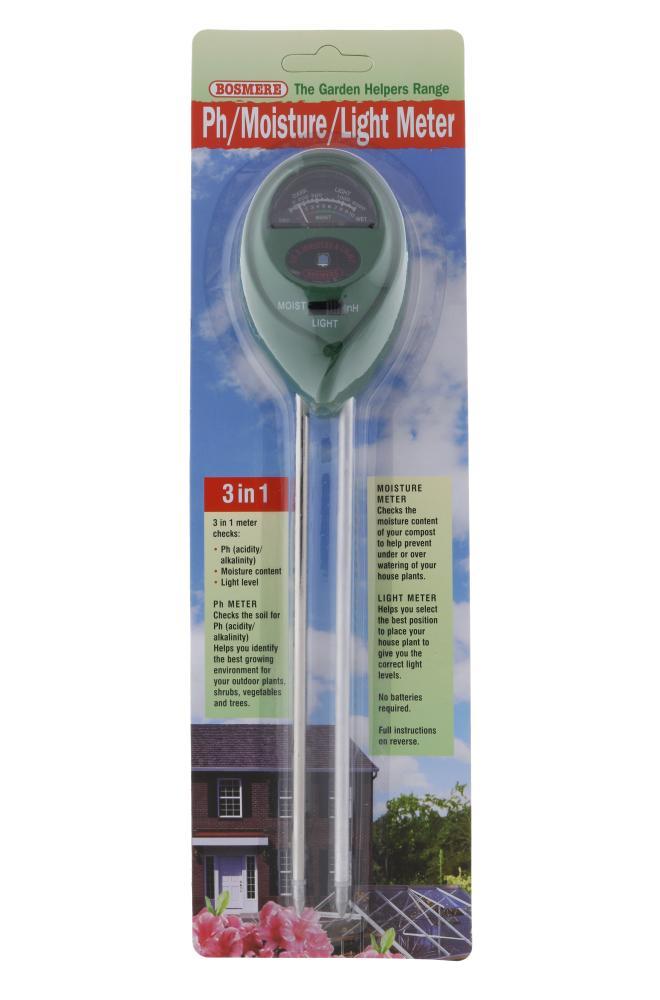 Bosmere PH-Moisture-Light Meter