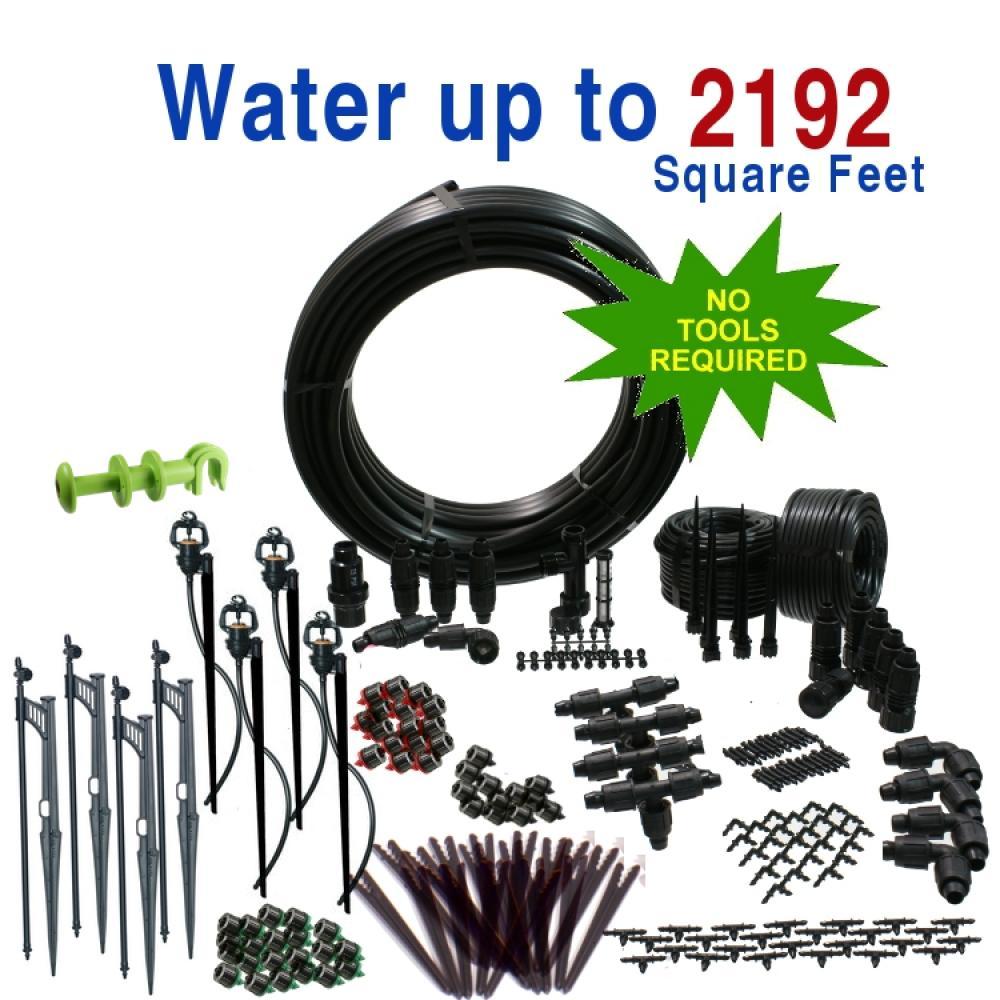 Premium Drip Irrigation and Microsprinkler Kit for Landscapes