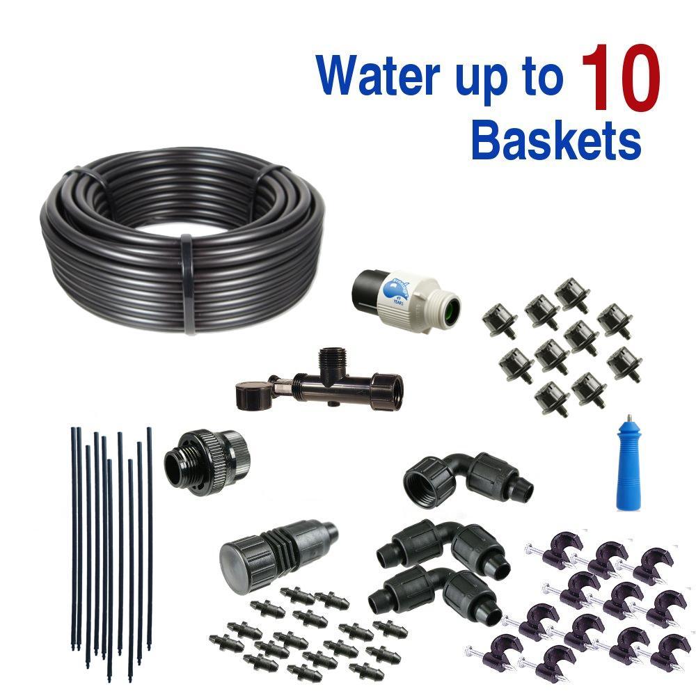 Standard Drip Irrigation Kit for Hanging Baskets