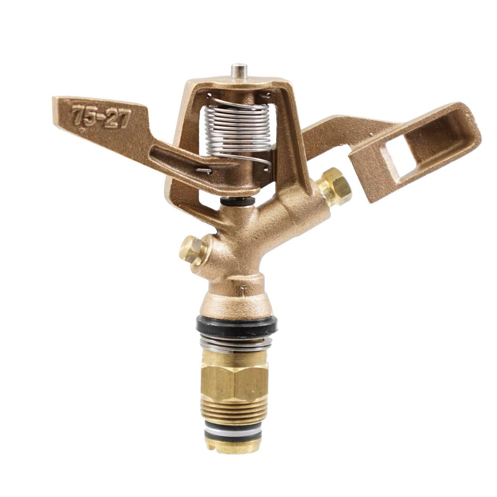 "Irritec Brass 3/4"" Full Circle 27 Degree Trajectory Nozzle and Plug"