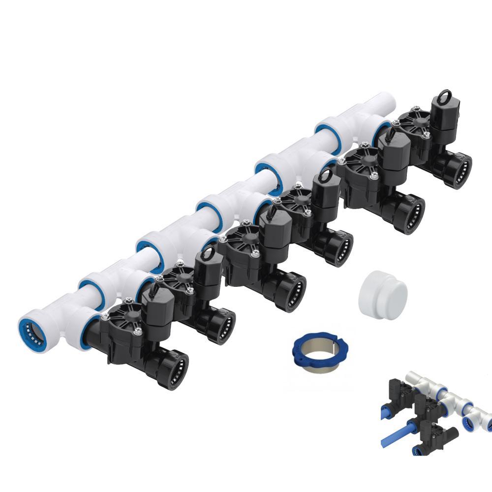 "6 Zone 1\"" PVC-Lock Push to Fit Manifold Kit"
