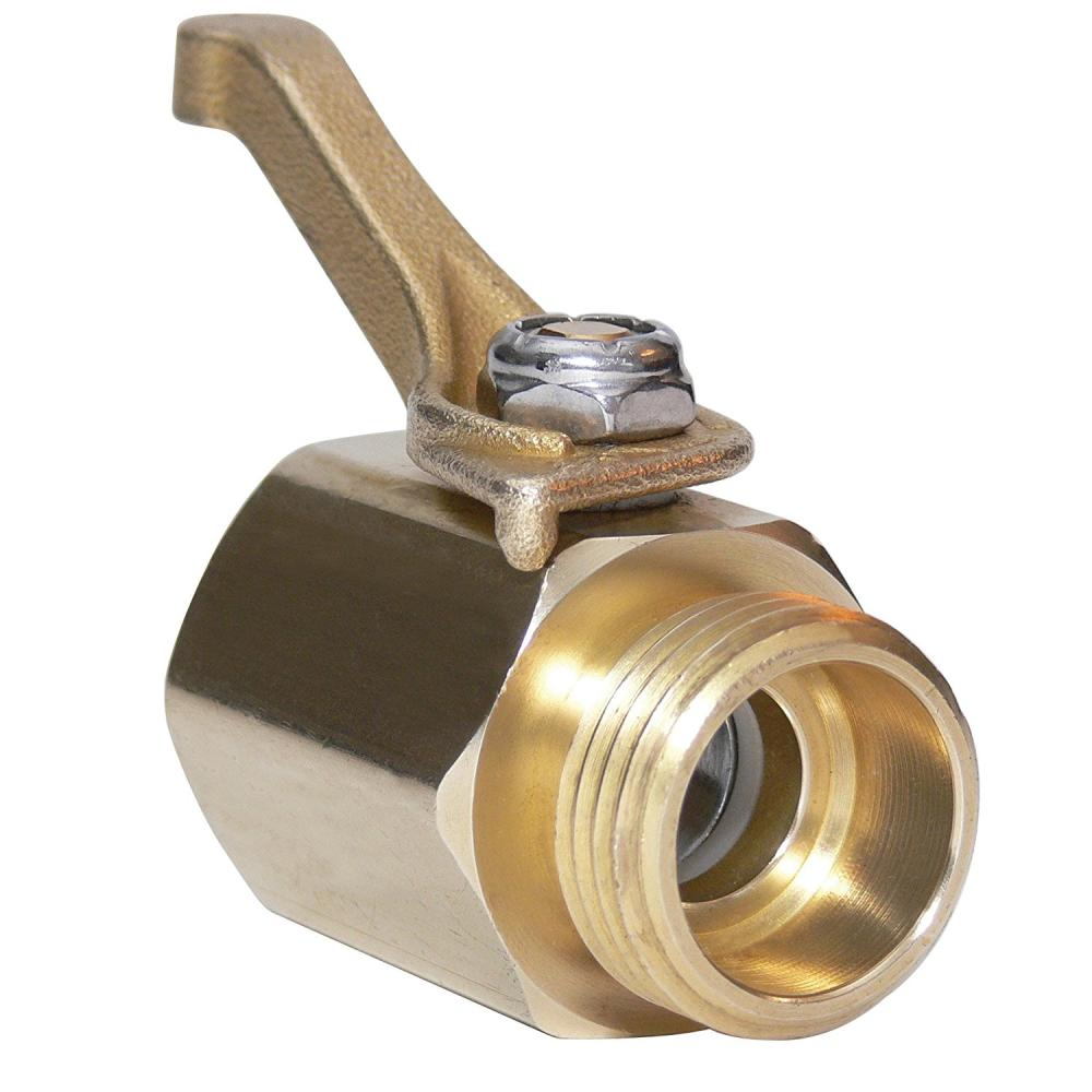 Solid Brass Hose Thread Shut Off Valve by Underhill