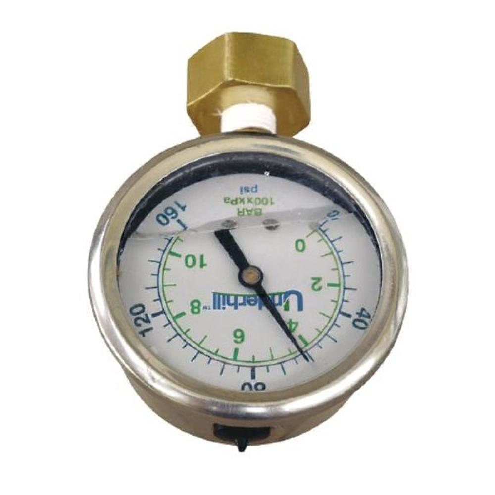 Underhill Hose Thread Liquid Filled Pressure Gauge