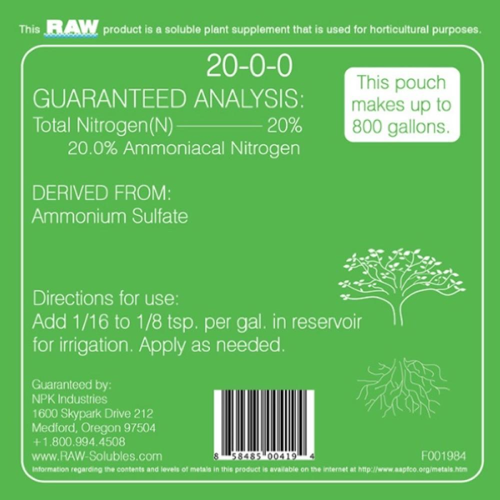RAW Nitrogen by NPK