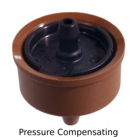 Pressure Compensating Dripper with Barbed Outlet