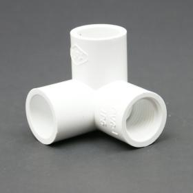 PVC Schedule 40 FPT x Slip 3-Way Elbow Adapter