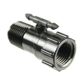 """1/2\"""" Riser Adapter with 1/4\"""" Swivel Barbed Tee"""