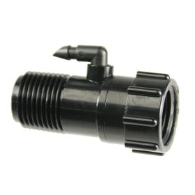 "1/2"" Riser Adapter with 1/4\"" Swivel Barbed Elbow"
