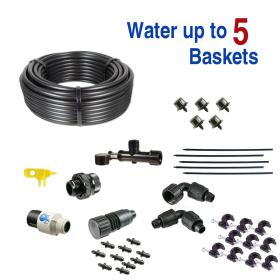 Basic Drip Irrigation Kit for Hanging Baskets