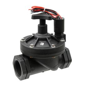 Galcon Valve w/ DC Latching Solenoid for Battery Operated Controllers w/ Flow Control