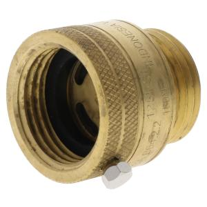 "Aqualine Brass 3/4"" Hose End Vacuum Breaker"