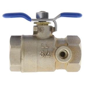 Aqualine Lead Free Brass Ball Valve W/ Test Port