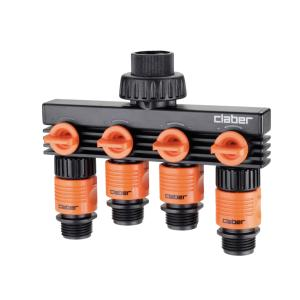Claber 4 Way Faucet Manifold