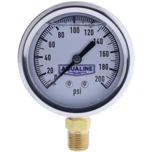 Liquid Filled Pressure Gauge by Aqualine