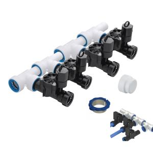 "4 Zone 1"" PVC-Lock Push to Fit Manifold Kit"
