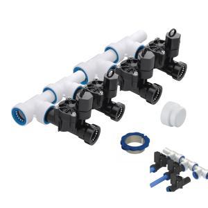 "4 Zone 1\"" PVC-Lock Push to Fit Manifold Kit"