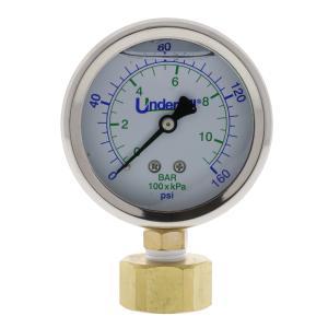 Underhill Hose Thread Liquid Filled Pressure Gauge