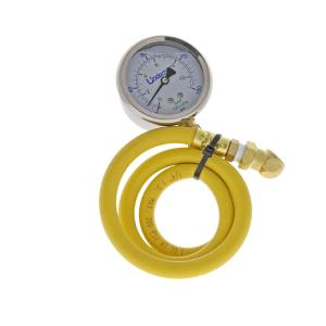 Underhill Pressure Gauge w/Schrader Valve Adapter and Flex Hose