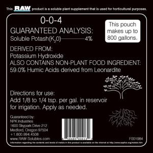 RAW Humic Acid by NPK