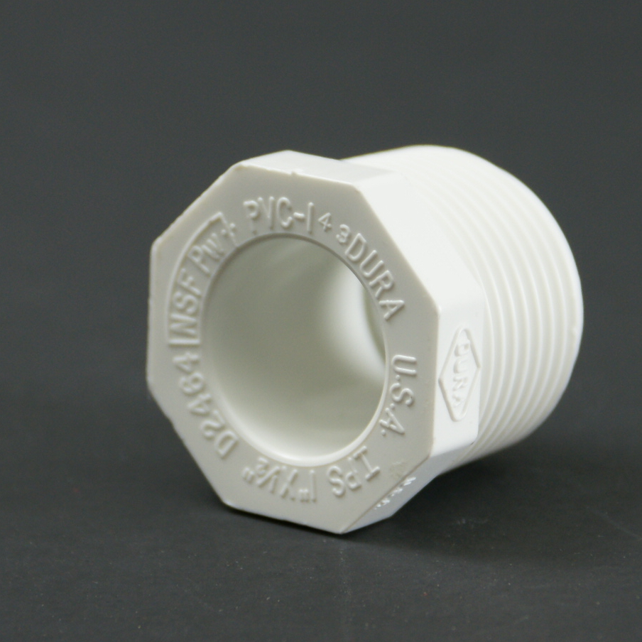 PVC Schedule 40 MPT x Slip Bushing Adapter