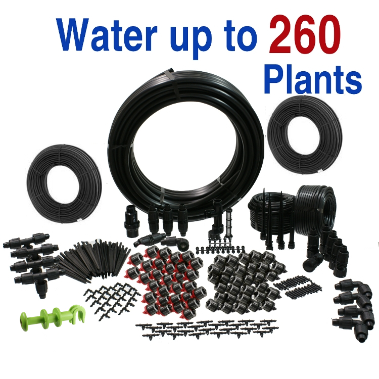Deluxe Drip Irrigation Kit for Vegetable Gardens