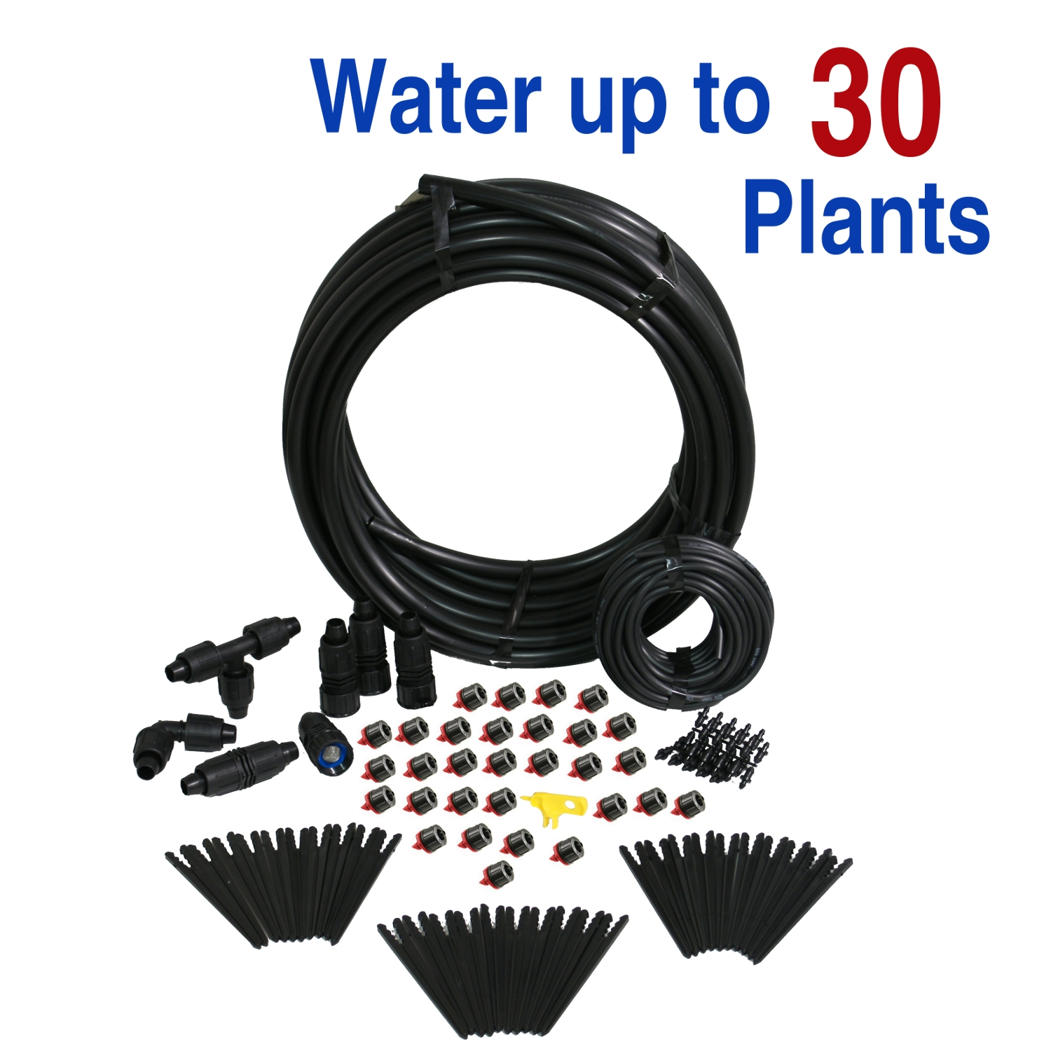 Deluxe Gravity Feed Drip Irrigation Kit for Clean Water
