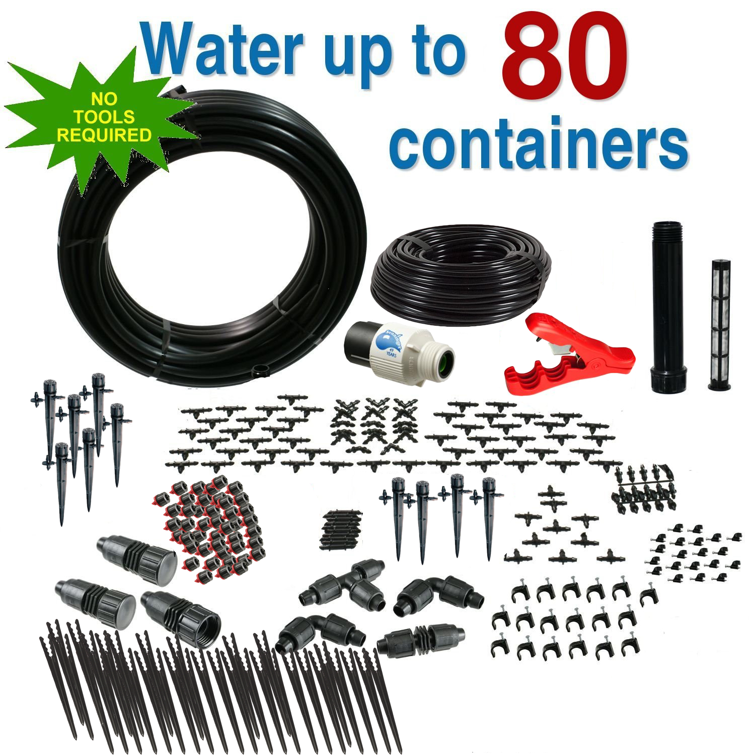 Patio Container Drip Irrigation Watering Kit: Premium Drip Irrigation Kit For Container Gardening