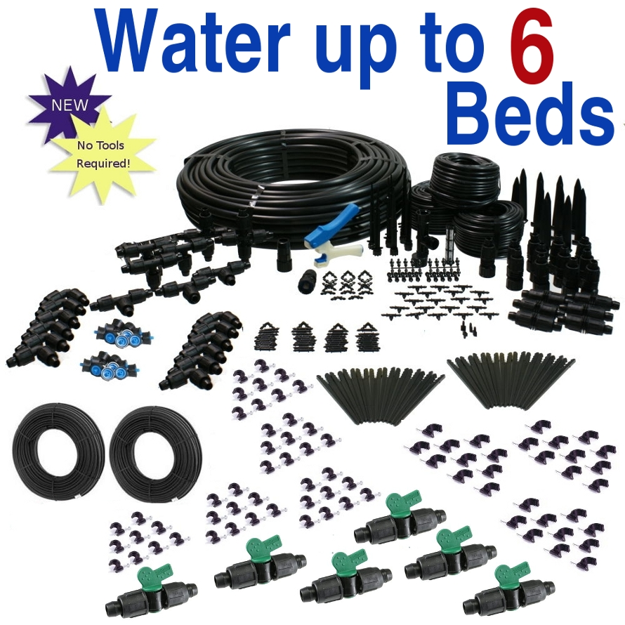 Drip Irrigation Kit for Raised Bed Gardening