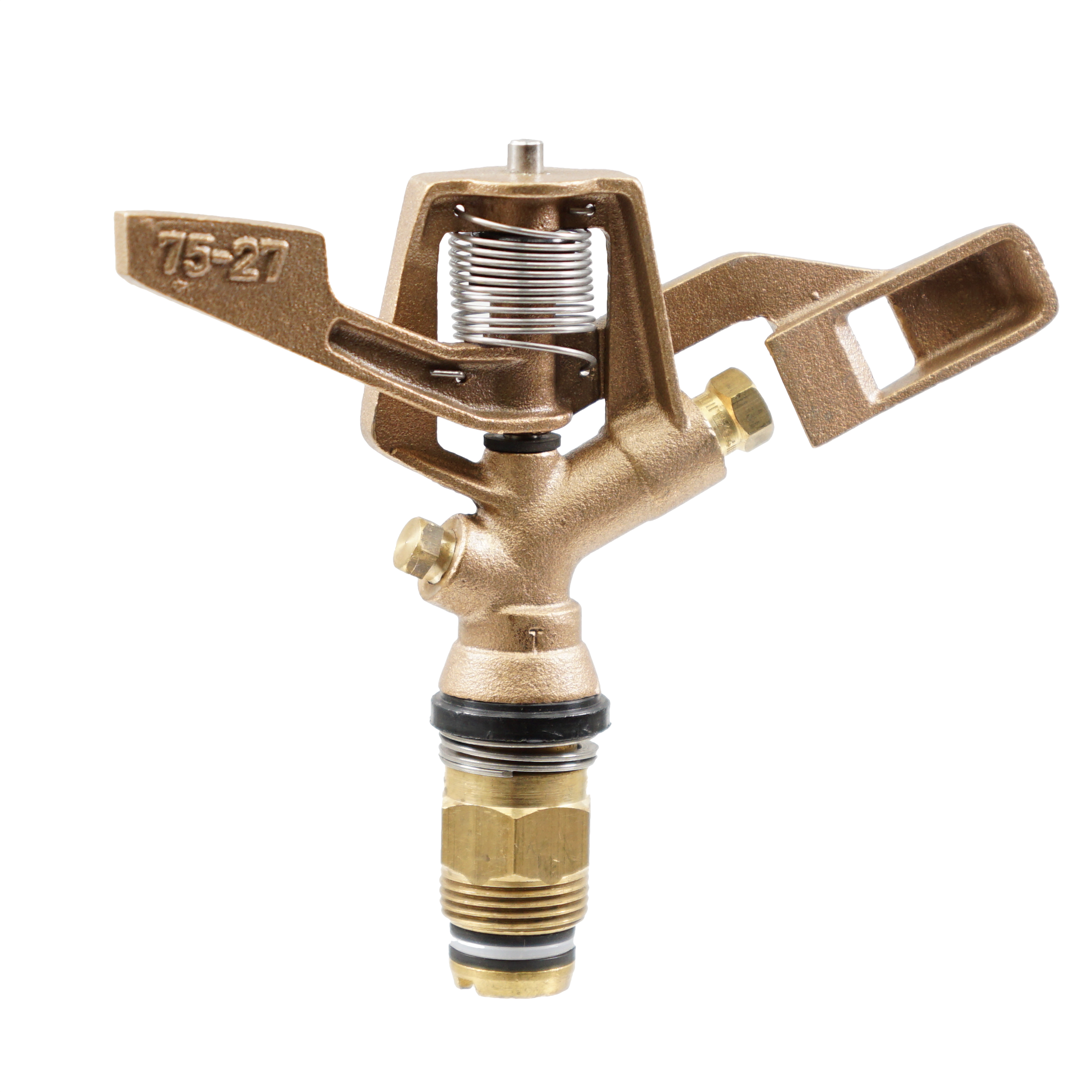 """Brass 3/4\"""" Full Circle 27 Degree Trajectory Nozzle and Plug"""