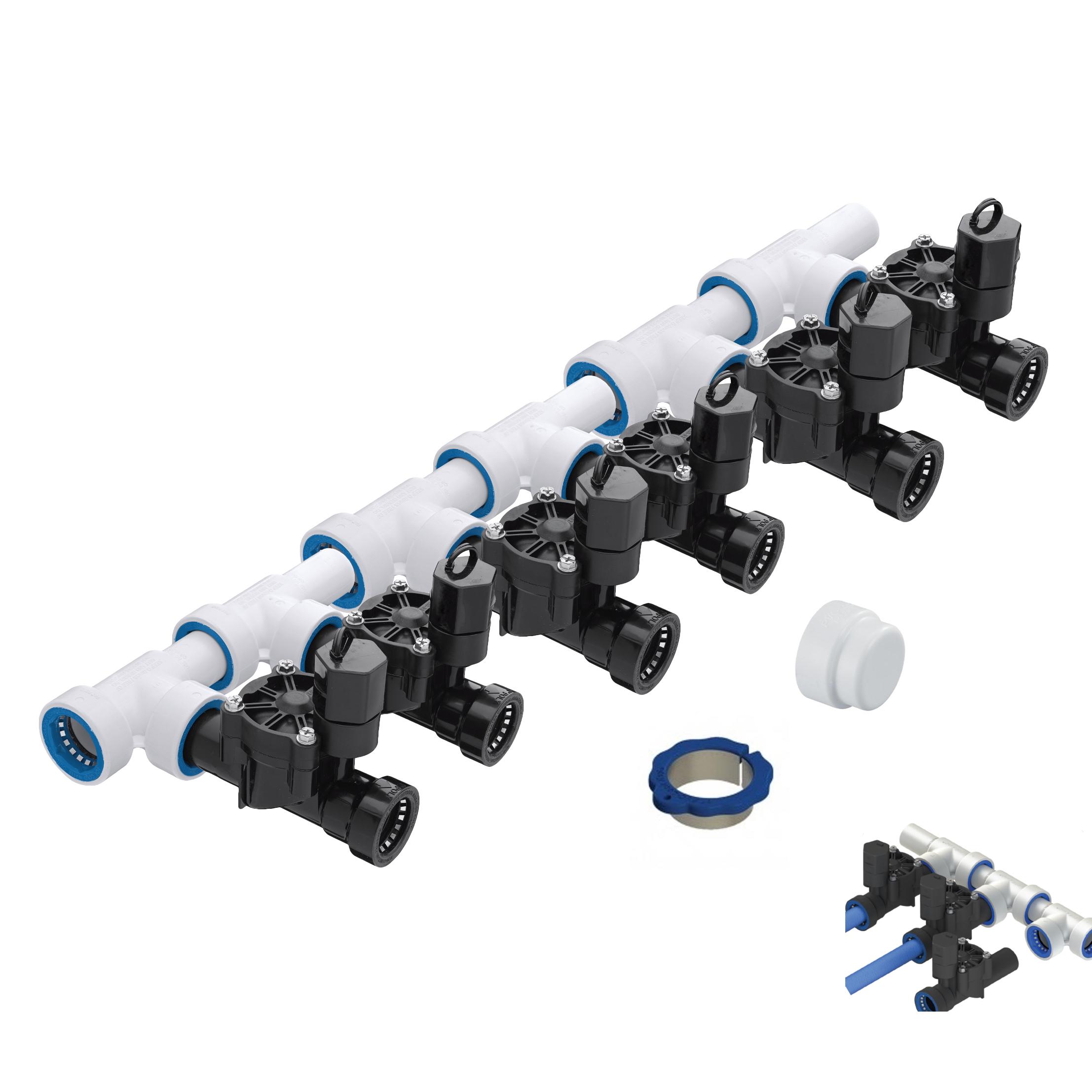 Zone quot pvc lock push to fit manifold kit