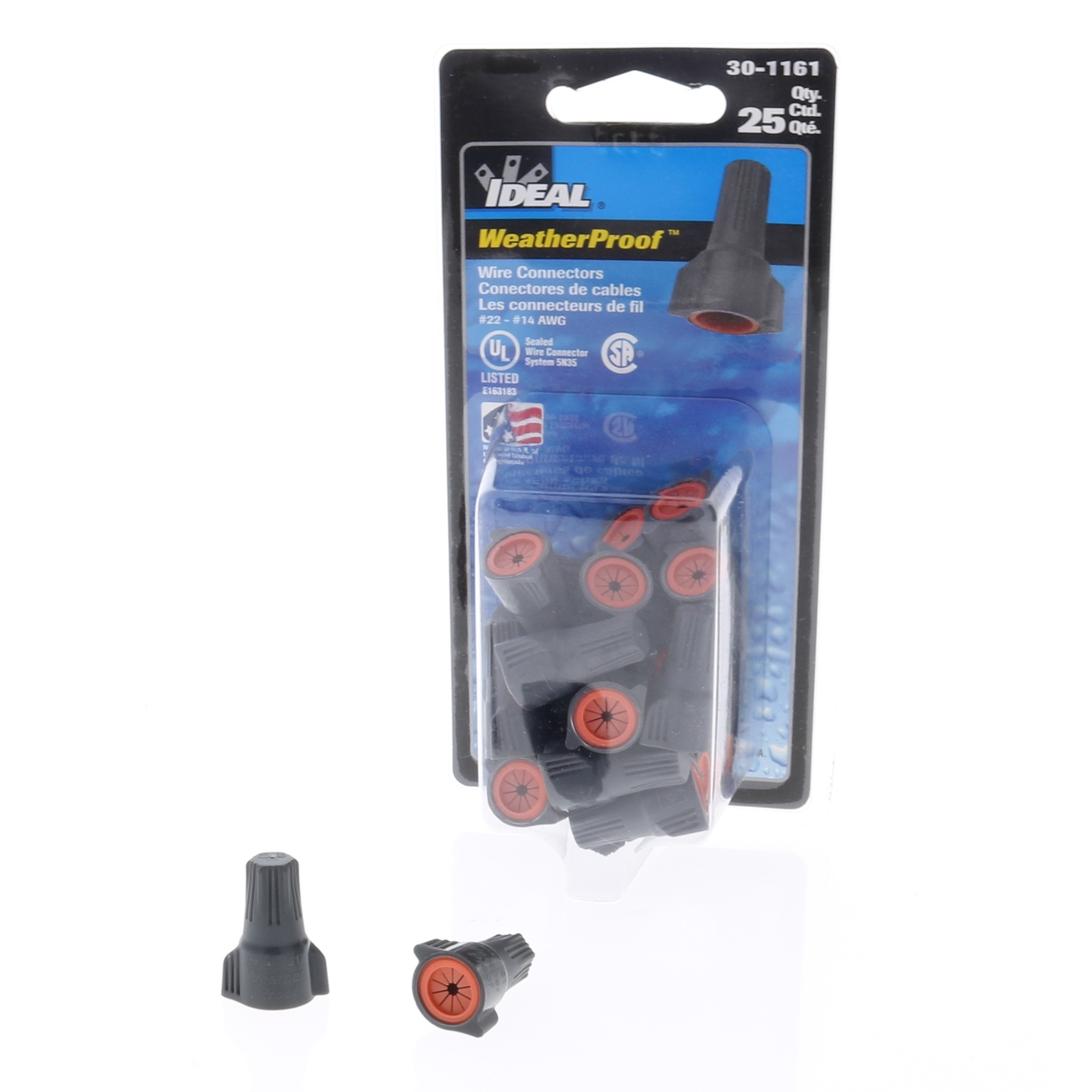 Ideal WeatherProof Silicone Filled Wire Nuts - Size : Small - Pack ...
