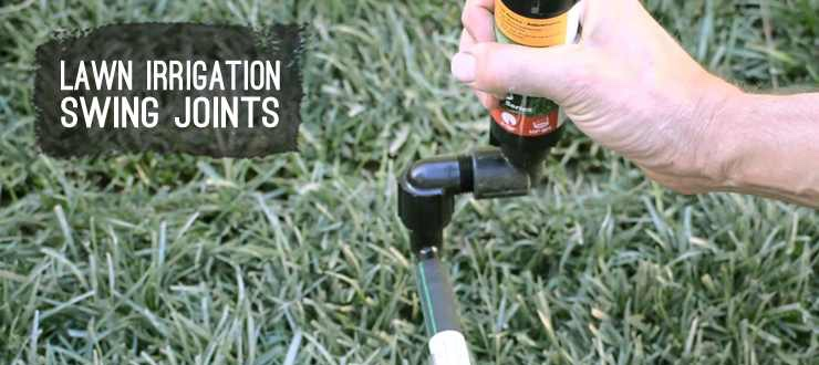 Shop lawn irrigation swing joints