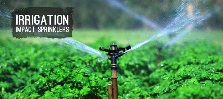 Shop lawn irrigation impact sprinklers